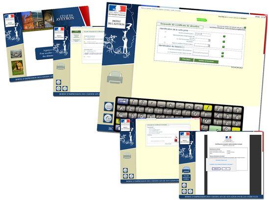 Les écrans d'accès au site SIV de l'état.